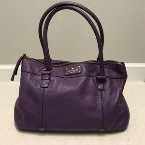 Kate Spade purple leather satchel